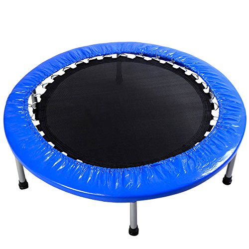 Giantex 38'' Mini Rebounder Trampoline with Padding & Springs Elastic Safe Outdoor Indoor Exercise Fitness Workout by Giantex