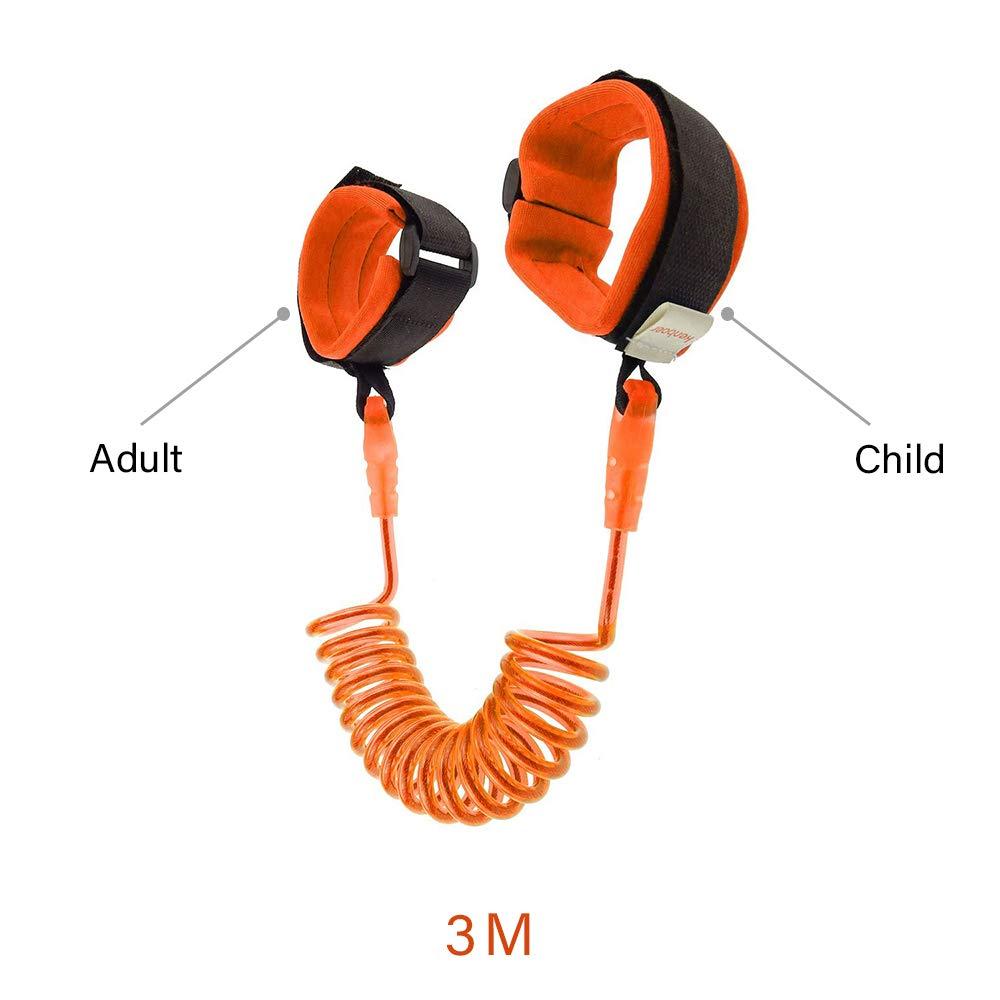 Orange gotyou 2m Pulsera Infantil Anti-Perdida,Correa de Mu/ñeca Antip/érdida,360 Grados Correa de Mu/ñeca Ajustable de Seguridad,Cintur/ón de Seguridad para Mu/ñeca