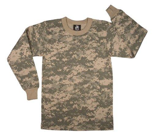 (Kids Camouflage T-Shirt - Long Sleeve, ACU Digital Camo, X-Small)