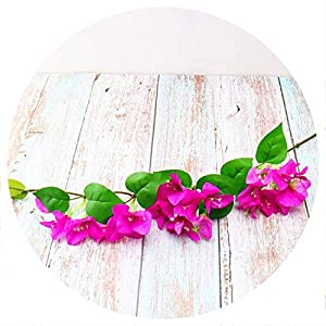 HOT Single Stem Climbing Bougainvillea Simulation Bougainvilleas for Home Showcase Party Decorative Artificial Flowers,Fuchsia 39