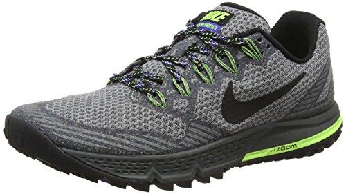 Nike Trail Shoes (Nike Women's Air Zoom Wildhorse 3 Cool Grey/Blk/Anthrct/Prsn Vlt Running Shoe 6.5 Women)