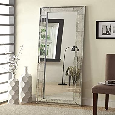 Coaster Home Furnishings 901807 Mirror, Antique Silver