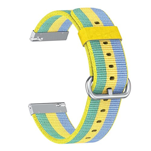 Price comparison product image Outsta for Fitbit Versa Watch BandLightweight Nylon Adjustable Replacement WirstBand Sport Strap Bracelet Accessories Smart Watch Band Women Men Multicolor (C)
