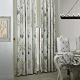 MICHELE HOME FASHION 50″ Wx96 L(Set of 1 panel) 20 Custom Modern Country Rustic Leaf Cotton Polyester Blend Print Grommet Top Lined Blackout Window Treatment Draperies & Curtains Panels