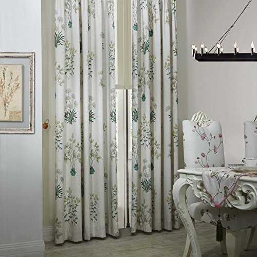 MICHELE HOME FASHION 42″ Wx84 L(Set of 1 panel) 20 Custom Modern Country Rustic Leaf Cotton Polyester Blend Print Grommet Top Energy Efficient Window Treatment Draperies & Curtains Panels