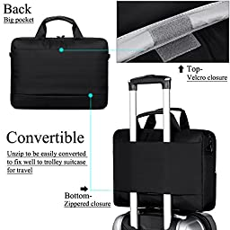 BRINCH(TM) 17.3 inch New Soft Nylon Waterproof Laptop Computer Case Cover Sleeve Shoulder Strap Bag with Side Pockets Handles and Detachable for Laptop / Notebook / NetBook / Chromebook,Colour Black