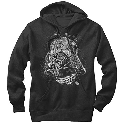 Star Wars Men's Darth Vader Death Star Black Hoodie]()