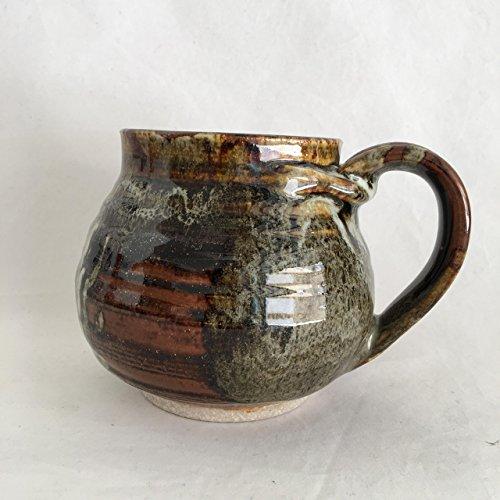 Unique Mug, Pottery Cup, Handmade Coffee Mug, 17 oz TMKJUN17M3