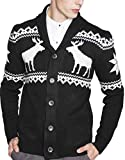 Product review for S&S Men's Shawl Collar Sweater Snowflake Moose Button Cardigan Sweater