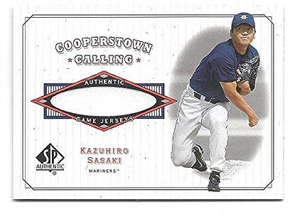 ecac876f6 KAZUHIRO KAZU SASAKI 2001 SP Authentic Cooperstown Calling  CCKS Game-Used  JERSEY Card Seattle