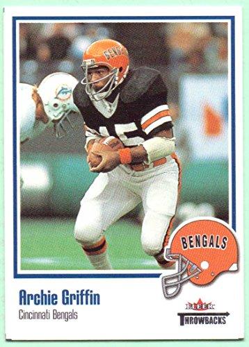 Archie Griffin 2002 Fleer Throwbacks #7 - Cincinnati Bengals - 2002 Buckeyes State Ohio Football