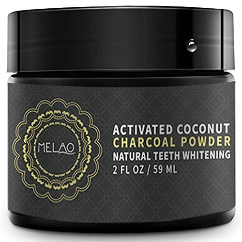 Large Product Image of Teeth Whitening Charcoal Powder - Natural Activated Coconut Charcoal Toothpaste Raw Organic Food Grade for Stronger Healthy Whiter Teeth