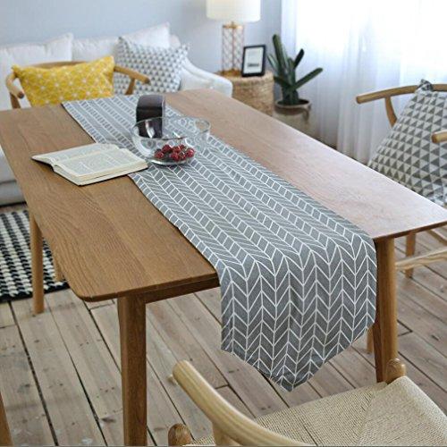 Manteles Corredor de tabla de lino de algodón decoración de tabla de corredor de tabla gruesa rectángulo con el patrón de...