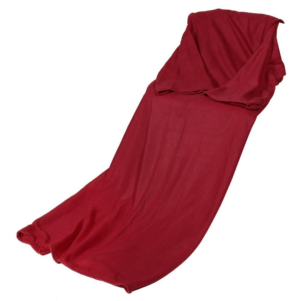 TTnight Supper Home Winter Warm Fleece Blanket Robe Cloak with Sleeves (Black)