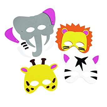 0fc4d32f Amazon.com: Colorations WILDMASK Wild Animal Foam Masks Kit for 12 ...