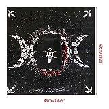 Altar Tarot Cloth, Triple Goddess Moon Phases