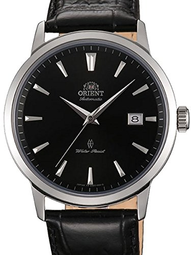 Orient Men's 'Symphony Gen. II' Japanese Automatic Stainless Steel and Leather Dress Watch, Color:Black (Model: SER2700GB0)