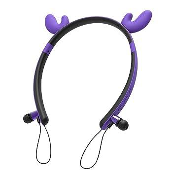 Auriculares Bluetooth Deportivos,Conejo/Gato/Elk/Diablo Orejas LED ...