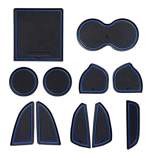 ELONN Anti-dust Interior Cup Mats Door Gate Slot Storage Mats Console Liner Accessories for 2015-2019 Dodge Challenger 11 Pieces Set