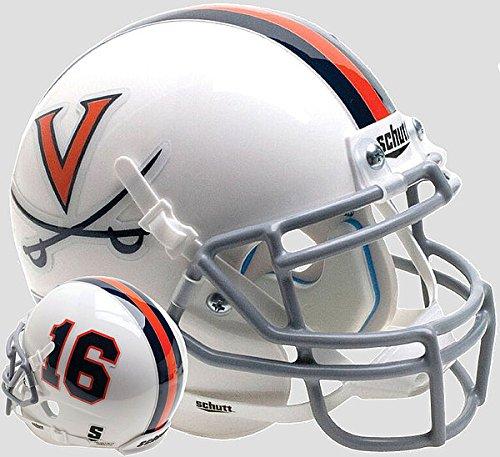 (Schutt Virginia Cavaliers Mini XP Authentic Helmet White 16 - Licensed NCAA Merchandise)