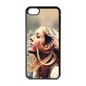 iPhone 5c Cell Phone Case Black Ellie Goulding Flowers SU4358576