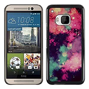 Planetar® ( Stars Universe Sky Clouds Majestic Night ) HTC One M9 Fundas Cover Cubre Hard Case Cover