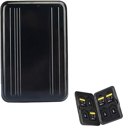 Funda de Transporte para Tarjeta de Memoria 16 Ranuras para cámara de Ordenador, Almacenamiento de Medios -SD Micro SD SDHC SDXC TF: Amazon.es: Electrónica