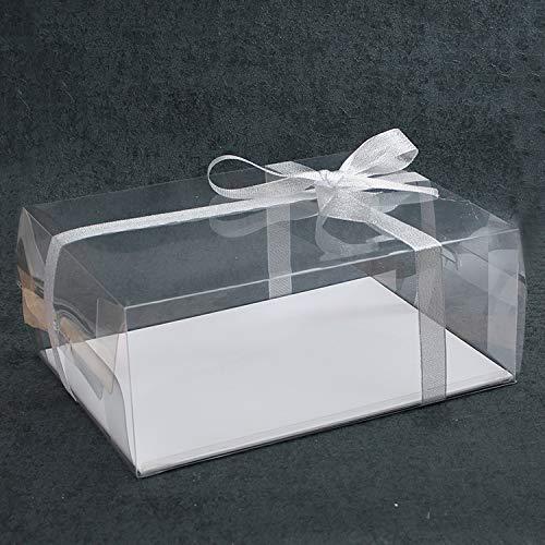 Plastique clair Nombre Cake Box Coque num/éros 0 Lot de 5 9/g/âteau de combinaison de conservation Emballage cadeau Emball/é avec ruban D/écoration