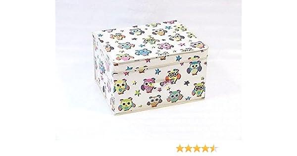 Owl Búho Plegable Pop Up habitación Organizador Pecho Caja de Almacenamiento para niñas y niños, Tela, Multicolor, 50 x 30 x 40 cm: Amazon.es: Hogar