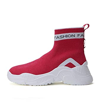 11a0aea8008e7 Amazon.com: Hy Women's Shoes Spring/Fall Knit Socks Shoes Comfort ...