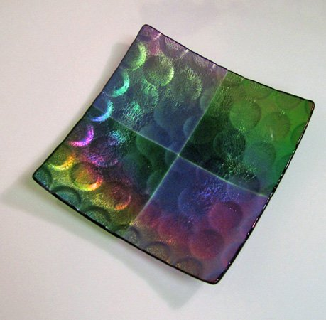 (9 Inch Square Spot Texture Plate Mold for Glass Slumping)