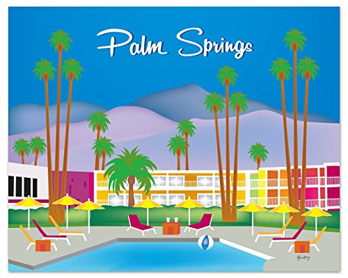Palm Springs, California Print - Retro Inspired Travel Wall