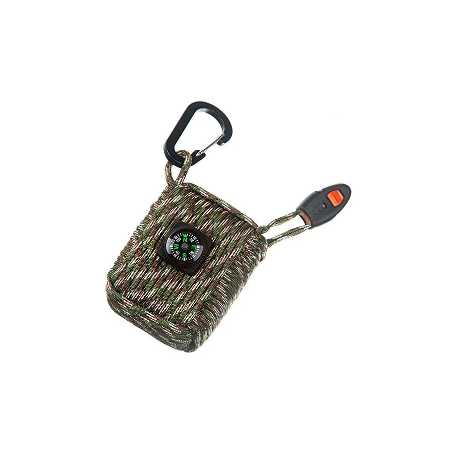 CAMPSNAIL Emergency Survival Kit Grenade 25 Accessories First Aid Kit Survival Wrapped in 550 lb Paracord Survival Grenade Cord for Emergencies
