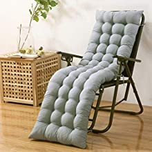 Soft Cushions for Lounge Chair Beach Chair Foldable Cotton Seat Outdoor Patio Backyard Pool Garden Seat Padding (Gray, 48155)
