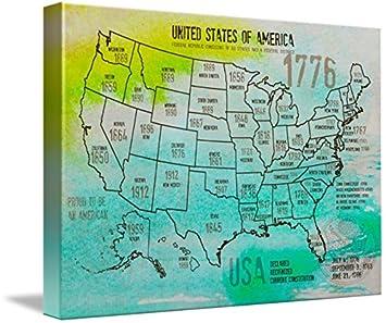 Amazon Com Imagekind Wall Art Print Entitled Orl 2988 18 Usa Map