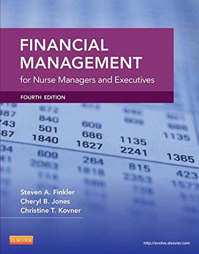 Download Financial Management for Nurse Managers and Executives (Finkler, Financial Management for Nurse Managers and Executives) Pdf