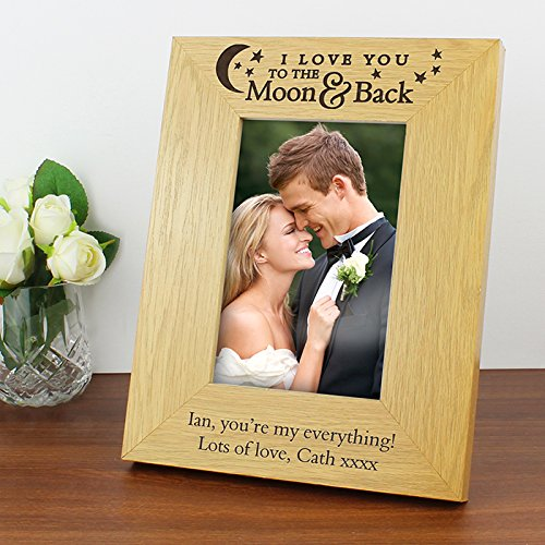 Personalised Photo Frame 'I Love You To The Moon & Back'