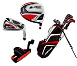 Precise Men's SL500 Tall Complete Set (Black/Red), Graphite Hybrids with Steel Irons, Regular, Right Hand