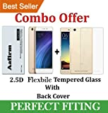 Aafirm® Xiaomi Redmi 4a Tempered Glass + Back Cover [4a Combo Pack]