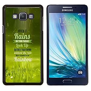 - UP QUOTE RAIN LIFE LOOK RAINBOW PARADE - Caja del telšŠfono delgado Guardia Armor- For Samsung Galaxy A7 Devil Case