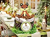 Forest Friends Woodland Creatures FOX baby shower mini diaper cakes centerpieces