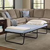 Eshion Folding Bed Memory Foam Mattress Roll Away Portable Guest Cot,Blue