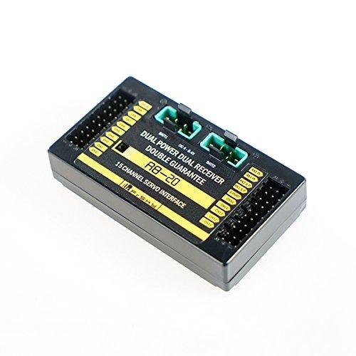 Venta barata Desconocido Generic Frsky RB-20 Dual Power Dual Receiver Receiver Receiver Telemetry Auto-Switch & Maximum Current Output Up to 10A  moda clasica