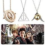 Best Necklaces - Set of 3 harry potter necklaces-time turner necklace,deathly Review