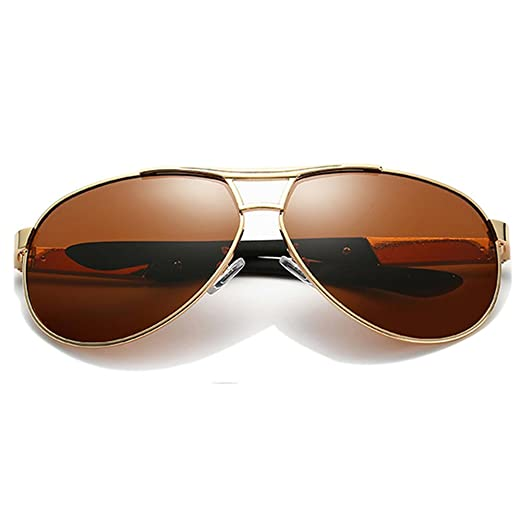 516b7c211c Polarized Classic Aviator Sunglasses for Men and Women Mirrored Sun Glasses  Shades have Boxes (Golden