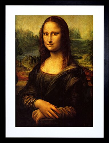 9x7 '' DA VINCI MONA LISA OLD MASTER PAINTING FRAMED ART PRINT F97X479