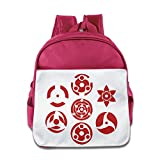 Ysov Sharingan Set Of 7 Pins Child Preshool School Bag Pink