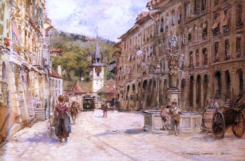 Georges Stein A Street Scene in Bern - 18.1
