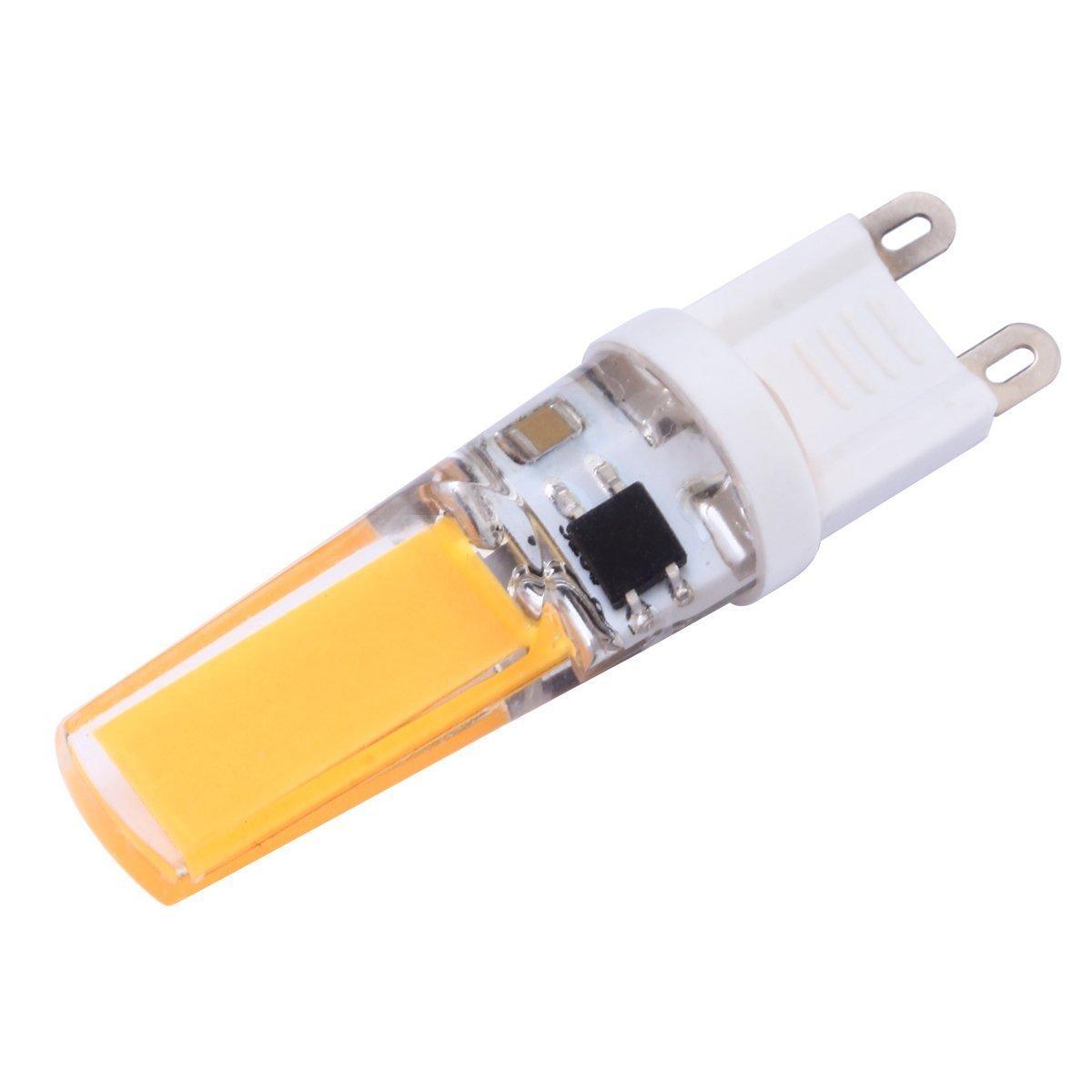 COB 2508 200-240 LM Blanco cálido/Blanco frío T Dimmable Bi-Pin Luces AC 220-240 V Wkae Led Light 10Pcs G9 Bombillas LED 3W 2 Color : Blanco frío