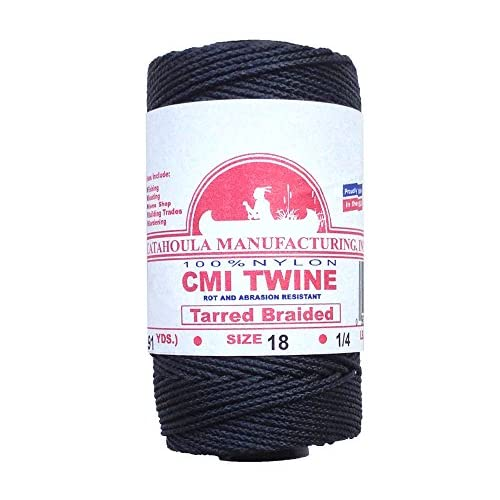 Nice 275' Catahoula Manufacturing #18 Tarred Braided Bank Line, 1/4 lb Spool for cheap